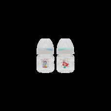 เพียวรีนขวดนมไทรตันปริ้นเซส คอกว้าง 4oz.x2-สี (ฟ้า+เขียว)