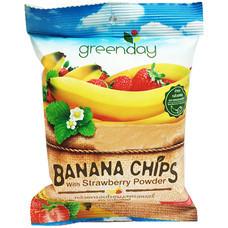 กรีนเดย์ กล้วยกรอบโรยผงสตรอเบอร์รี่แท้ 20 กรัม