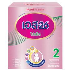 เอส26โปรมิล นมผงสูตร 2 สำหรับทารกและเด็กเล็ก อายุ 6 เดือนขึ้นไป 600 ก.