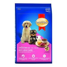 อาหารลูกสุนัขรสเนื้อและนมสมาร์ทฮาร์ท 500กรัม