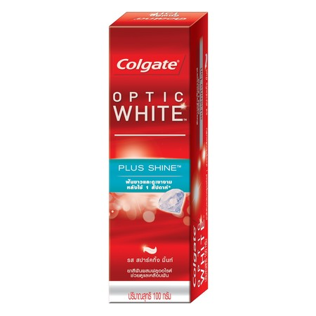คอลเกตยาสีฟันอ๊อฟติคไวท์พลัสชายน์ 100 กรัม
