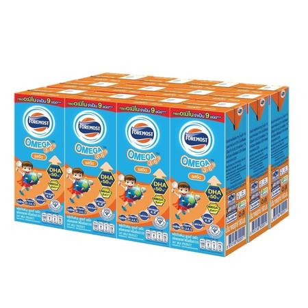 นม UHT โฟร์โมสต์โอเมก้า รสจืด 180 มิลลิลิตร (แพ็ก 12 กล่อง)