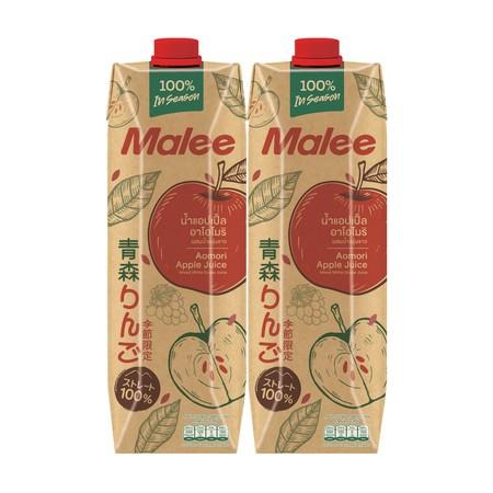 มาลี น้ำแอปเปิ้ลอาโอโมริ 100% 1,000 มล. จำนวน 2 กล่อง
