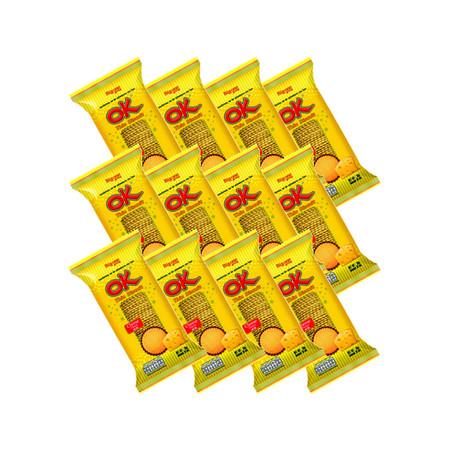 โอเค บิสกิตแผ่นบาง รสชีส 60 กรัม(แพ็ก12)