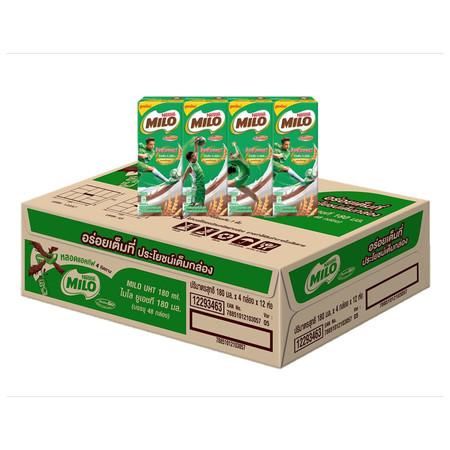 ไมโล นมUHT 180มิลลิลิตร (ขายยกลัง 48 กล่อง)