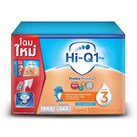 นมผงไฮคิว พรีไบโอโพรเทค สูตร3 3000 กรัม