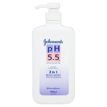 จอห์นสัน ครีมอาบน้ำ pH5.5 2อิน1 วอช 750 มล.