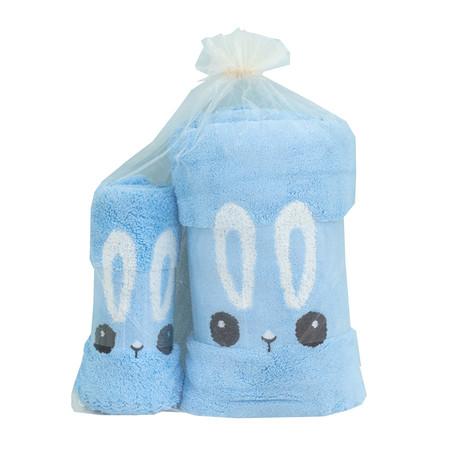 ชุดของขวัญ ผ้าขนหนู Set A สีฟ้า