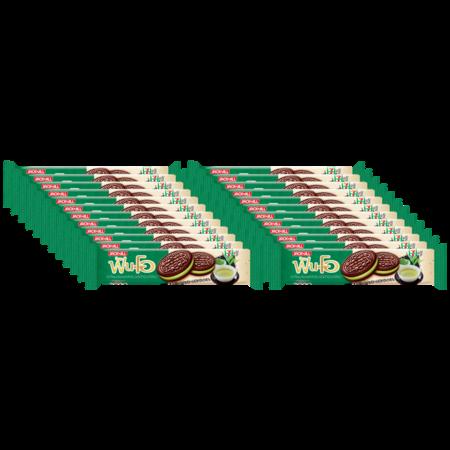 แซนวิชคุกกี้ฟันโอ ช็อกโกแลตไส้ครีมชาเขียวมัทฉะ 90 กรัม (ยกลัง 24 ชิ้น)