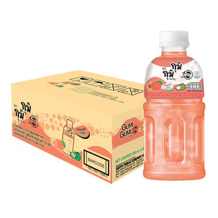 กุมิ พีช ผสมวุ้นมะพร้าว 320 มล. (ยกลัง 24 ขวด)