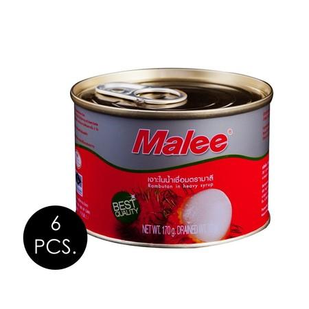 มาลี เงาะในน้ำเชื่อม 170 กรัม (แพ็ก 6 กระป๋อง)