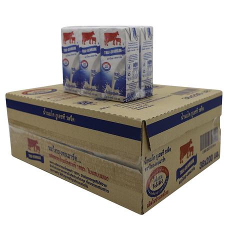 ไทยเดนมาร์ค นมUHT รสจืด 200 มิลลิลิตร (ขายยกลัง 36 กล่อง)