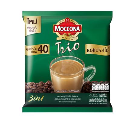 มอคโคน่าทรีโอ กาแฟ 3in1 เอสเปรสโซ่ แพ็ค 40 ซอง