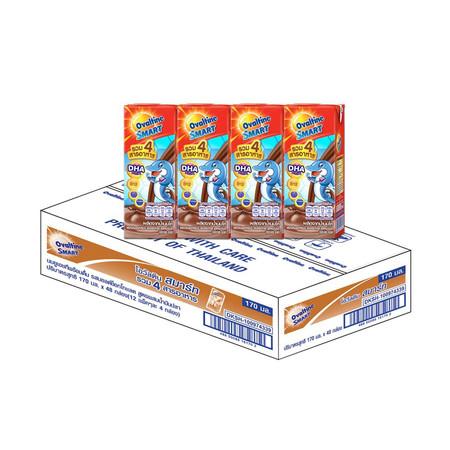 โอวัลตินสมาร์ท นมUHT 170 มิลลิลิตร (ขายยกลัง 48กล่อง)