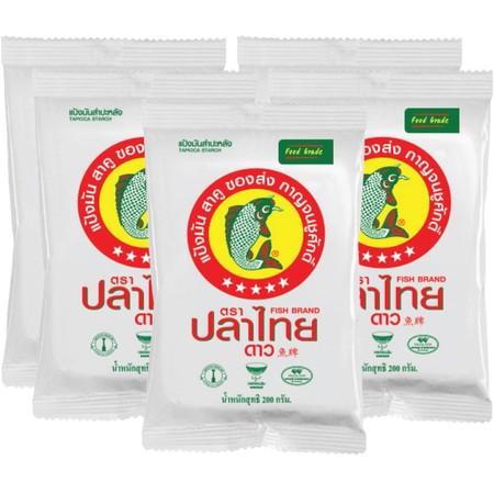 ปลาไทย5ดาวแป้งมัน 200 กรัม แพ็ก 5