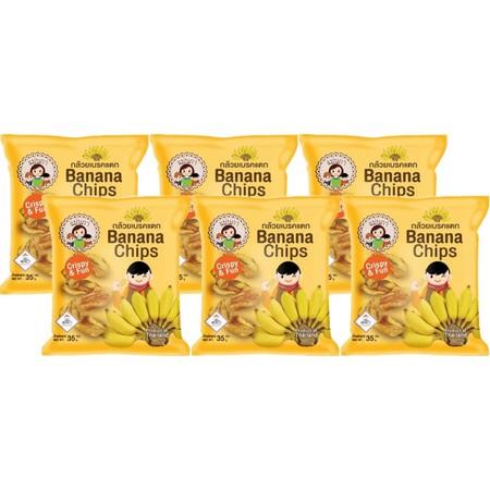 กล้วยเบรคแตกแม่นภา 35 กรัม แพ็ก 6