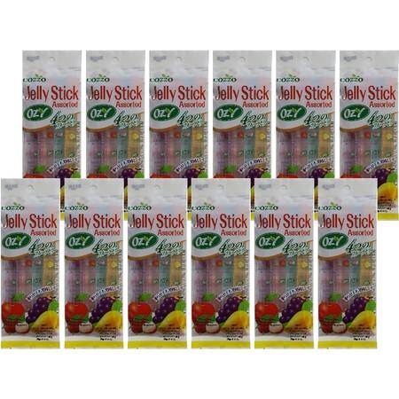 โอซี เจลลี่สติ๊กรสผลไม้ต่างๆ 80 กรัม ( แพ็ก 12 )