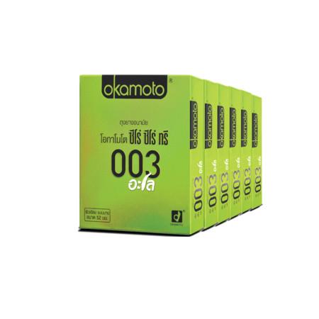 โอกาโมโต ถุงยางอนามัย 003อะโล (แพ็ก6)
