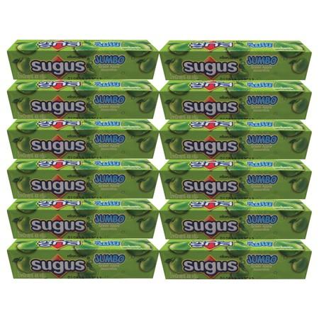 ซูกัส ลูกอมจัมโบ้แอปเปิลแท่ง 48 กรัม ( แพ็ก 12 )