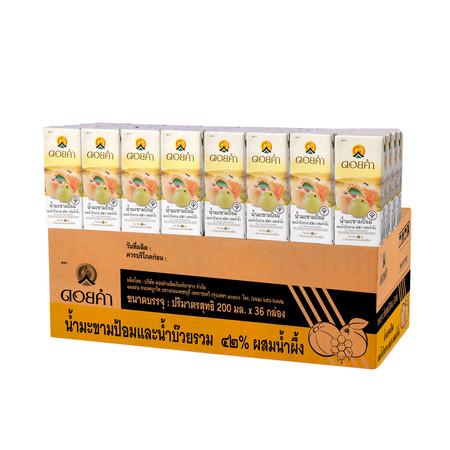 ดอยคำ น้ำมะขามป้อมและน้ำบ๊วยผสมน้ำผึ้ง กล่อง 200 มิลลิลิตร (ยกลัง 36 กล่อง)