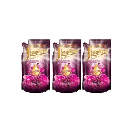 ไฟน์ไลน์ น้ำยาปรับผ้านุ่มเข้มข้น สีชมพู (แพ็ก3ถุง)