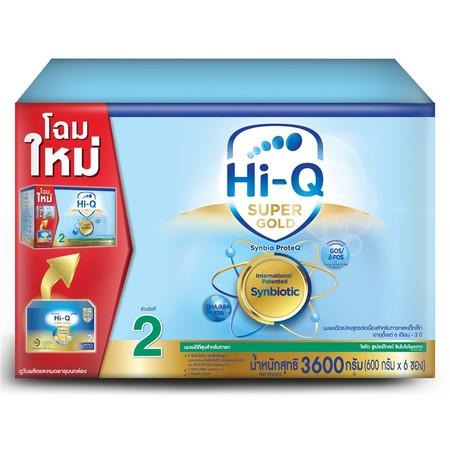 นมผงไฮคิว ซุปเปอร์โกลด์ สูตร2 3600 กรัม