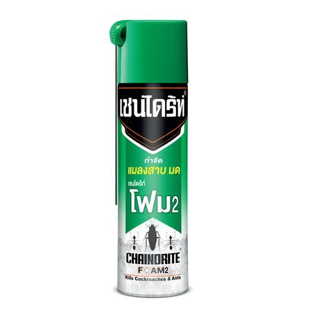 เชนไดร้ท์โฟม2สูตรกำจัดแมลงสาบและมด 250กรัม