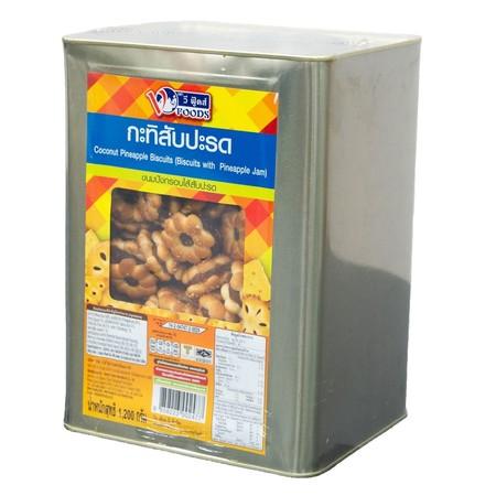 วีฟู้ดส์ ขนมปังกรอบกะทิไส้สับปะรด 1200 กรัม