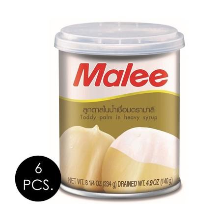 มาลี ลูกตาลในน้ำเชื่อม 234 กรัม (แพ็ก 6 กระป๋อง)