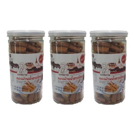 แม่สมาน ทองม้วนน้ำตาลโตนด รสหวาน 130 ก. (3 ชิ้น/แพ็ก)