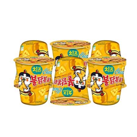 ซัมยังฮอทชิคเค่นราเม็งคัพรสไก่เผ็ดชีส 70 กรัม แพ็ก 6