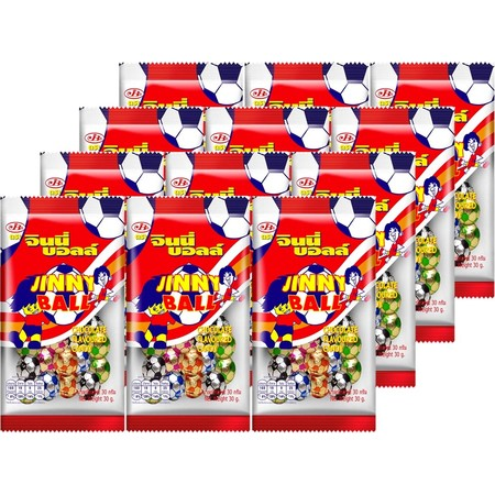 จินนี่บอลล์ช็อกโกแลต 35 กรัม ( แพ็ก 12 )