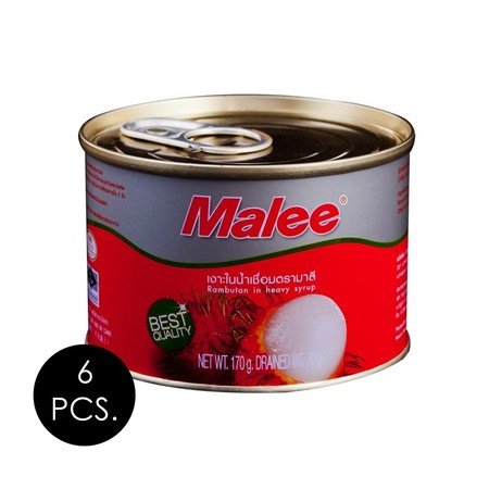 มาลี ลิ้นจี่ในน้ำเชื่อม 170 กรัม (แพ็ก 6 กระป๋อง)