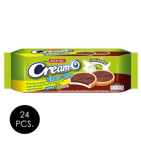 ครีมโอ คุกกี้ช็อกโกพลัส มะพร้าวและช็อกโกแลต 90 กรัม (ยกลัง 24 ชิ้น)