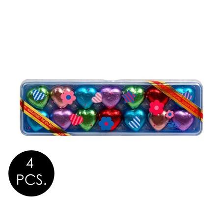 เจบี ช็อกโกแลตหัวใจกล่องดินสอ 42 กรัม (แพ็ก 4 ชิ้น)