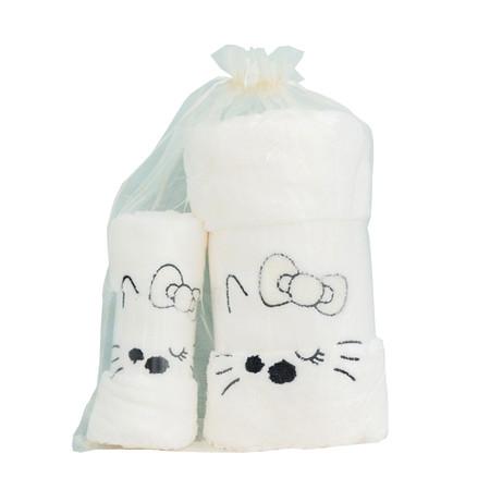 ชุดของขวัญ ผ้าขนหนู Set A สีขาว
