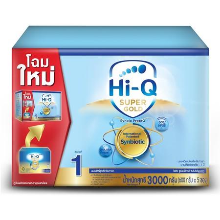 นมผงไฮคิว ซุปเปอร์โกลด์ สูตร1 3000 กรัม
