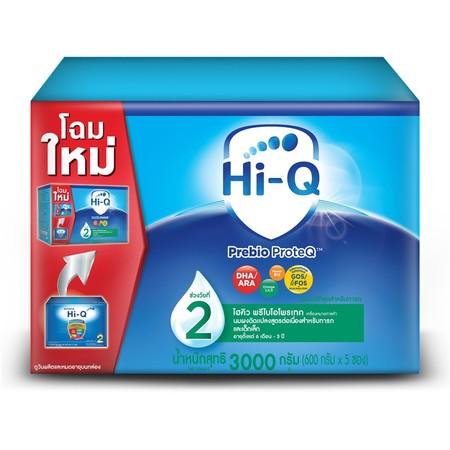 นมผงไฮคิว พรีไบโอโพรเทค สูตร2 3000 กรัม