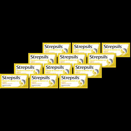 สเตร็ปซิล ยาอมน้ำผึ้งมะนาว 3 เม็ด(แพ็ก12)