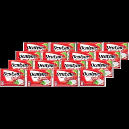 เดนทีน หมากฝรั่งสแปลชสตรอเบอร์รี่ไลม์แผง 15.2กรัม(แพ็ก16)
