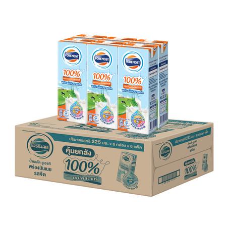โฟร์โมสต์ นม UHT รสจืด พร่องมันเนย 180 มล. (ยกลัง 36 กล่อง)