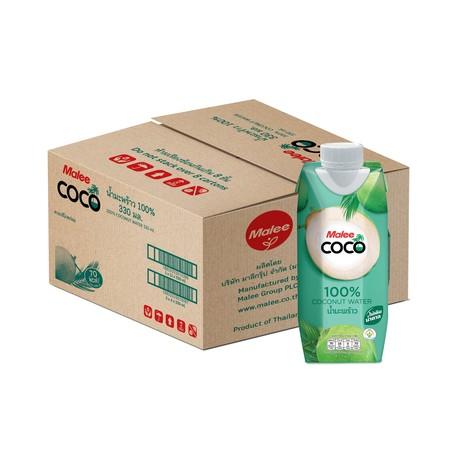 มาลีโคโค่น้ำมะพร้าว 100 % กล่อง 330 มิลลิลิตร (ยกลัง 12 กล่อง)