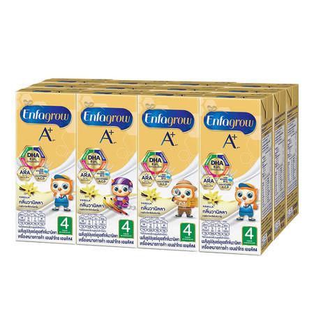 เอนฟาโกร นม UHT สูตร 4 รสวานิลลา 180 มล. (ยกแพ็ก 12 กล่อง)