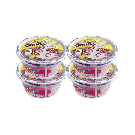 โดเน่มิลค์ ซีเรียลอาหารเช้าพร้อมนมในคัพ รสช็อกโกแลต 24 กรัม 1X4