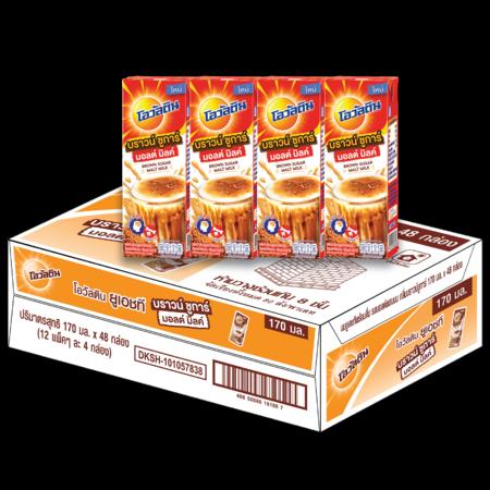 โอวัลติน นม UHT กลิ่นบราวน์ชูการ์ 170 มล. (ยกลัง 48 กล่อง)