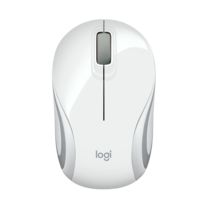 Logitech Mouse M187 Ultra Portable Wireless Mouse White