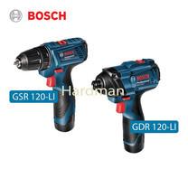 Bosch สว่านไขควงไร้สาย รุ่น GSR 120-LI + สว่านกระแทก รุ่น GDR 120-LI