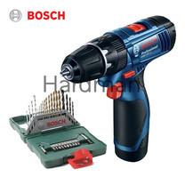 Bosch Promo Set สว่านกระแทกไร้สาย 12V รุ่น GSB 120-LI + Bosch ชุดดอกไขควงและดอกเจาะ 33 ชิ้น รุ่น X-Line 33 ชิ้น