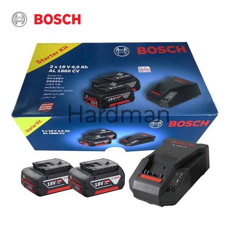 Bosch แบตเตอรี่ รุ่น Starter Kit (1 Charger + 2 batteries) 18V 4.0Ah