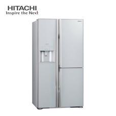 ตู้เย็น Hitachi Side By Side ระบบ inverter ขนาด 21.1 คิว (597 ลิตร) รุ่น R-M600GP2 TH (GLASS SILVER)